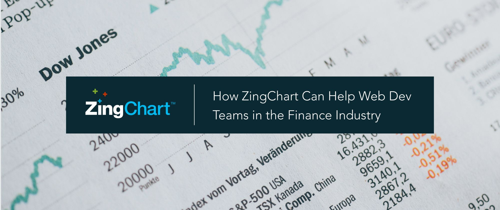 """Cover image for """"How ZingChart can help web dev teams in the finance industry"""" blog post"""