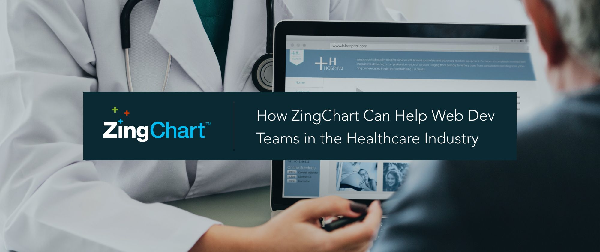 Cover image for 'How ZingChart Can Help Web Dev Teams in the Healthcare Industry' blog post