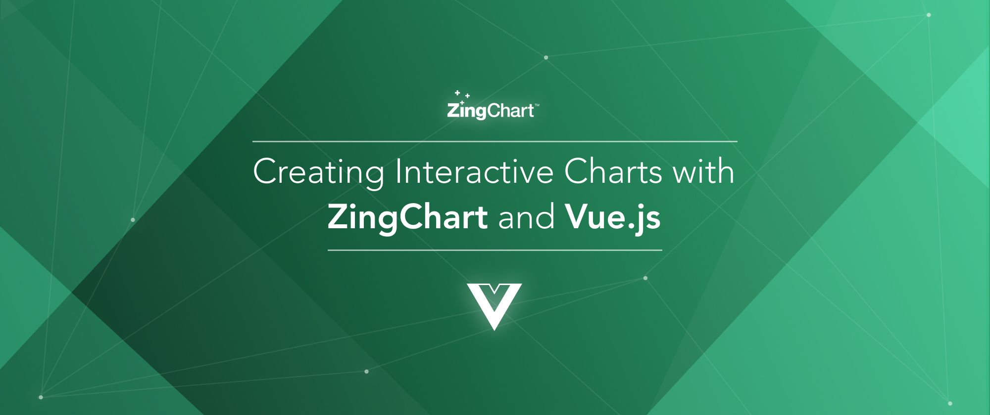 """Cover image for """"Creating Charts with ZingChart and Vue.js"""" blog post"""
