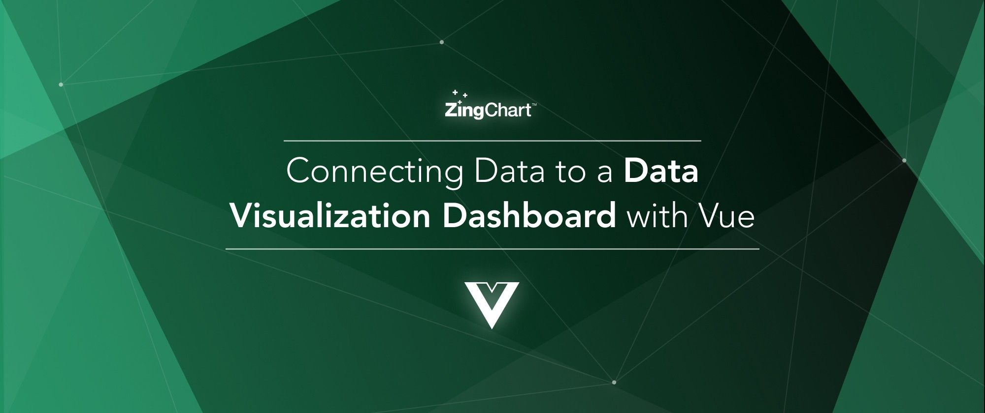 """Cover image for """"Connecting Data to a Data Visualization Dashboard with Vue"""" blog post"""